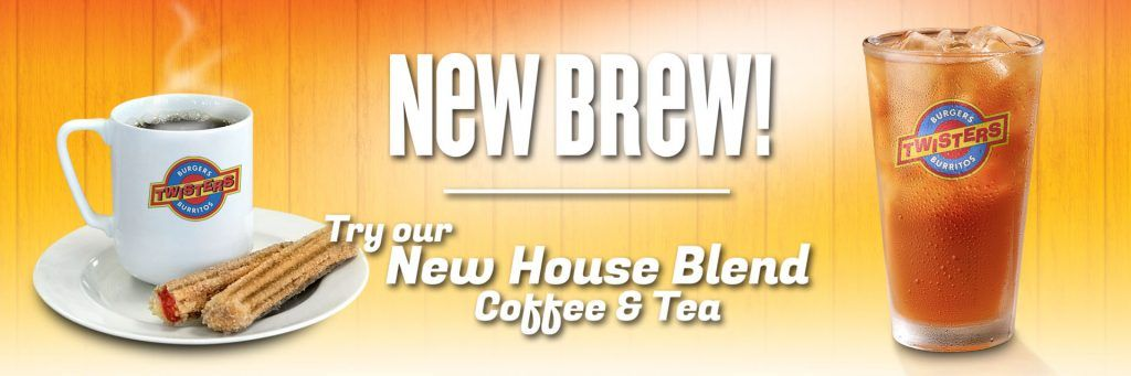 New Brew Try our new house blend of coffee and tea