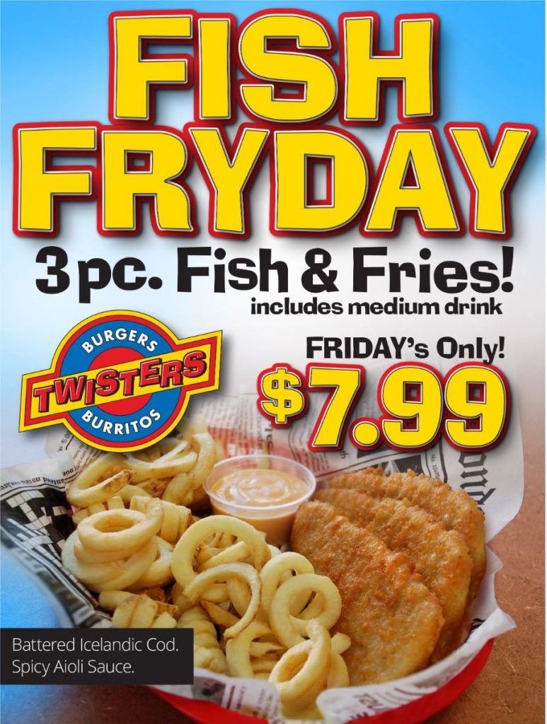 Fish Fyday 3 piece Fish and Fries