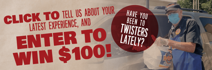 Enter to Win - My Twisters Burgers and Burritos - New Mexico, Colorado