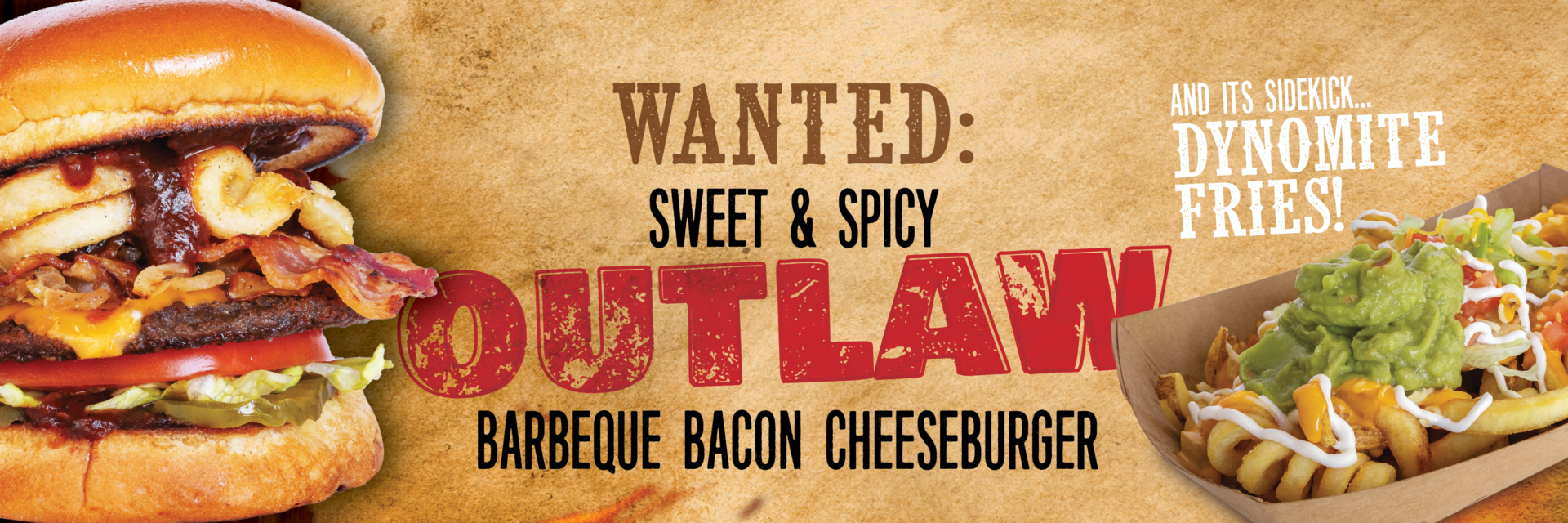 Twisters Burgers & Burritos - New Mexico and Colorado - Outlaw BBQ Bacon Cheeseburger